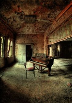 I love these types of areas...whimsical, ancient, abandoned, darkly beautiful...lovely setting and capture in this one