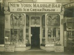 Shop front of the New York Marble Bar and Ice Cream Parlor, Queen Street, Brisbane, ca. 1912