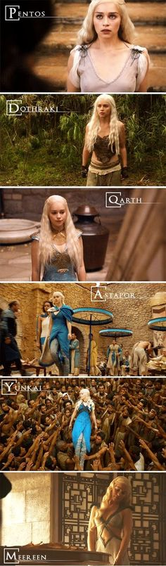 Daenerys Targaryen Places   Pentos  Dothraki  Qarth  Astapor  Yunkai  Meereen