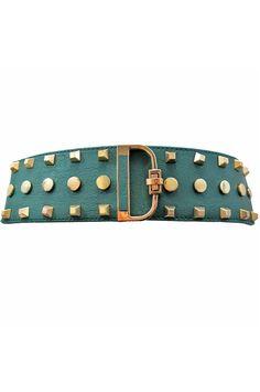 Gold Studded Wide Stretchy Waist Cinching Belt