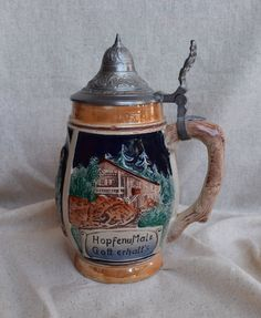 Bohemian Decor, Boho Chic, Shabby Chic, German Beer Steins, Ceramic Jars, Beer Mugs, Handmade Shop, Vintage Ceramic, Pewter