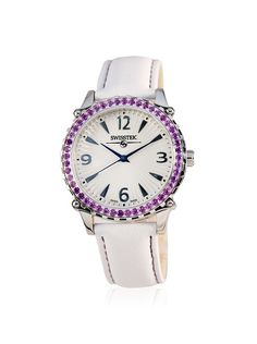914962e9b Women's Watches, White Leather, Bracelet Watch, Amethyst, Ladies Watches,  Amethysts