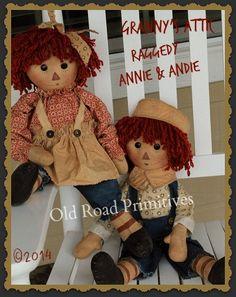 Primitive Granny's Attic Raggedy Annie & por OldRoadPrimitives
