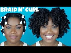 Braid and Curl On Thick Natural Hair (4a,4b, 4c friendly) | TROPHDOPH - YouTube