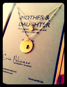 Mother Daughter Necklace Set GOLD // Inspirational Jewelry // Simple Delicate