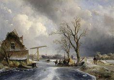 Johan Barthold Jongkind - Wintergezicht (1846)