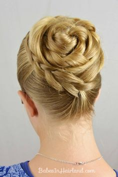 Swept Up Braided Bun from BabesInHairland.com...beautiful hairdo and easy to follow tutorial