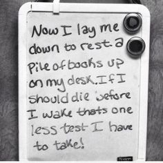 I am so going to do this to my white board during Finals Week!