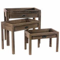 Distressed en Potting Tables Set