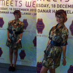 Be creative with Batik! Actually this is my bro's batik shirt, then I make it to be shirt dress with add a belt hahahaha #Stylieandfoodie