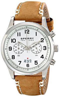 Sperry Top-Sider Men's 10018675 Leeward Analog Display Japanese Quartz Brown Watch