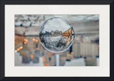 """City in a Sphere"" by Greg Lundgren, St. Paul // The Minneapolis riverfront and Stone Arch Bridge fit neatly inside this crystal ball. // Imagekind.com -- Buy stunning fine art prints, framed prints and canvas prints directly from independent working artists and photographers."