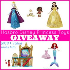 cool Giveaway: Hasbro Disney Princess Toys Prize Pack - $100+ Value! Ends 6/5/2017