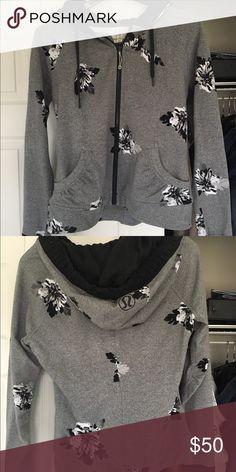 Zip up jacket Flowers lululemon athletica Jackets & Coats