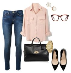 """""""Untitled #337"""" by angela-reiss on Polyvore featuring Frame Denim, Mulberry, Madewell, Michael Kors, Zara and Lulu Frost"""