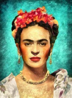 Frida Kahlo Art Canvas Print A4 Size ! 297 x 210mm
