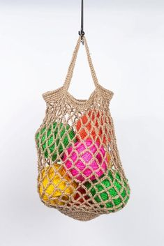 Make your own string bag kit- from nutscene- jute string eco bag Crochet Bags, Crochet Hooks, Make Your Own, Make It Yourself, How To Make, Hessian Bags, String Bag, Stitch Markers, Step By Step Instructions