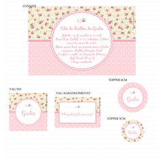 Kits Digitais Charme Papeteria - Floral Bege e Rosa