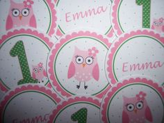 Owl Birthday Party Jumbo Party Confetti Pink Owl by kidEprints, $6.99
