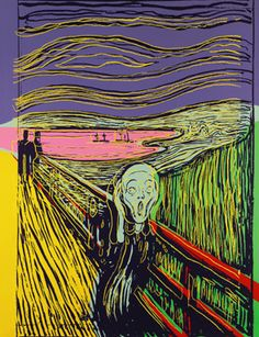 Andy Warhol, The Scream (After Munch). Screenprint in a unique combination of colours, 1984. Estimate: £ 150,000-200,000. Photo: Sotheby's.