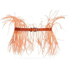 Emilio Pucci Feather lizard effect leather belt ($255) ❤ liked on Polyvore featuring accessories, belts, emilio pucci, orange, orange belt, orange leather belt, leather belts and feather belt