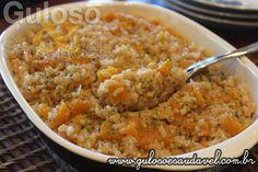 FotoEste Arroz Integral Cremoso com Abóbora é uma ótima forma de inserir arroz integral na alimentação, com estes ingredientes ficou delicioso e cremoso!!  #Receita aqui: http://www.gulosoesaudavel.com.br/2017/05/24/arroz-integral-cremoso-abobora/