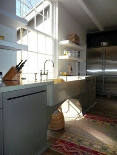 Don't feel limited by a small kitchen space. Get design inspiration from these charming small kitchen designs. Kitchen Sink Window, Home Kitchens, Kitchen Solutions, Contemporary Kitchen, Kitchen Remodel, Kitchen Design, Farmhouse Kitchen, Kitchen Decor, Kitchen Space