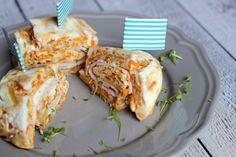 Ofen Omelette Rolle mit Möhren