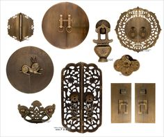Design, Chinese Brass Hardware Design: How To Choose Brass Hardware For Your Door Decoration Modern Chinese Interior, Asian Interior, Asian Furniture, Chinese Furniture, Furniture Ideas, Chinese Door, Chinese Art, Chinese Style, Chinese Element
