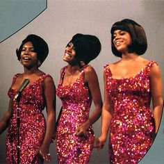 Glamour! Florence Ballard, right, with the Supremes, Diane Ross, center and Mary Wilson on the left.