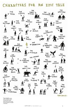 characters for an epic tale by Tom Gauld.  Hubs would LOVE this - too bad the poster is sold out! :(