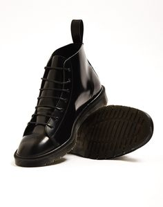 Dr Marten's Made in England Classic Monkey Boot Black | Shop men's shoes and clothing at The Idle Man