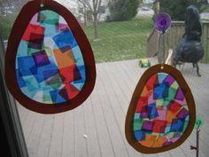 Egg Sun Catcher... Great Easter craft!