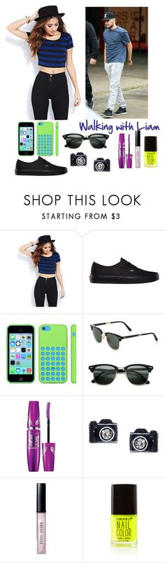 """""""Walking with Liam"""" by elise-22 ❤ liked on Polyvore featuring Forever 21, Vans, Ray-Ban, Betsey Johnson, Bobbi Brown Cosmetics and LiamPayne"""