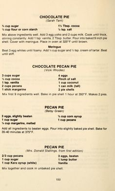 Retro Recipes, Old Recipes, Vintage Recipes, Cookbook Recipes, Baking Recipes, Cake Recipes, Dessert Recipes, Recipies, Pecan Recipes