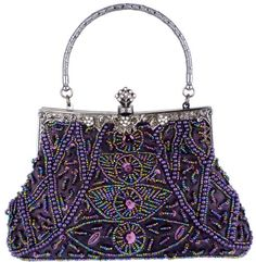 Exquisite Purple Seed Bead Sequined Leaf Evening Handbag, Clasp Purse Clutch w/Hidden Handle - http://www.besthandbagsdeals.co/evening-bags/exquisite-purple-seed-bead-sequined-leaf-evening-handbag-clasp-purse-clutch-whidden-handle/ #Bead, #Clasp, #Clutch, #Evening, #Exquisite, #Handbag, #Handle, #Hidden, #Leaf, #Purple, #Purse, #Seed, #Sequined