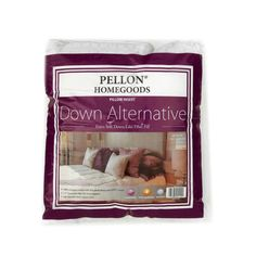 """Pellon Homegoods Down Alternative Pillow Insert 16"""" x 16"""" from @fabricdotcom  This Pellon Homegoods down alternative pillow insert allows you to add a designer touch without the allergies!  This pillow features and extra-soft, down-like fiber filling, 300 thread count cotton cover and 1.5'' gusseted edges for extra support.  This package contains one 16'' x 16'' pillow insert."""