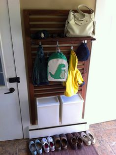 ikea applaro hack - entryway coat rack with hangers and shelf