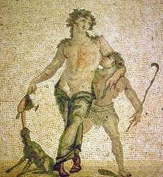 Mosaic of Dionysos and Satyros - at the Antakya Museum, Turkey