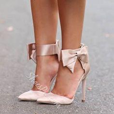 Shoespie Classy Side Bowtie Stiletto Heels