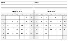 March April 2019 Printable Calendar PDF Word Page Excel Size March April 2019 Printable Calendar with Notes Printable Calendar Calendar March, Monthly Calendar Template, Printable Calendar Template, January February March April, Printables, A4 Size, Templates, Words, Pdf
