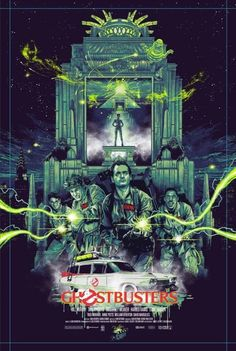 Ghostbusters movie fan poster art find love this movie as a kid & still do Best Movie Posters, Movie Poster Art, Cool Posters, Film Posters, Ghostbusters Poster, The Real Ghostbusters, Le Revenant, Kelly's Heroes, Photo Star