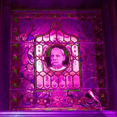 Stained Glass Window showing Field Marshall Earl Roberts K.G V.C, Philharmonic pub, Liverpool.