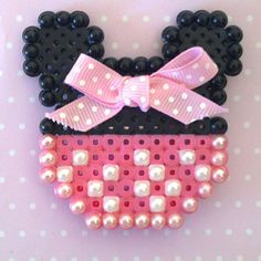 Minnie Mouse brooch by BecsKittysCreations on Etsy