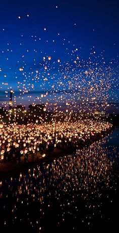 Floating Lantern Festival, Thailand- I want to see this so much, it looks like the floating lanterns in Tangled. Floating Lantern Festival, Lantern Festival Thailand, Floating Lanterns, Floating Lights, Sky Lanterns, Lantern Lighting, Paper Lanterns, Ideas Lanterns, Wedding Lanterns