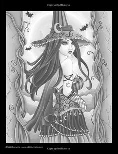 Spellbinding Images: A Grayscale Fantasy Coloring Book: Advanced Edition (Volume 1): Nikki Burnette: 9781530191956: Amazon.com: Books