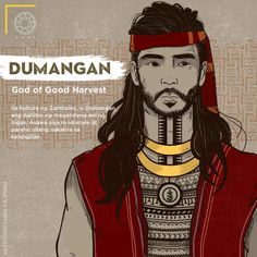 In the culture of Zambales, Dumangan is the reason for a good harvest of rice. He is the husband of Idianale, the goddess of labor and good deeds, and both live in the sky. Filipino Art, Filipino Culture, Filipino Tattoos, Women In History, Art History, Cultura Filipina, Philippine Mythology, Philippine Art, Greek Mythology