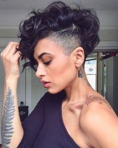 The best collection of Great Curly Pixie Hair, Pixie cuts, Latest and short curly pixie haircuts, Curly pixie cuts pixie hair Curly Pixie Haircuts, Curly Pixie Cuts, Short Hair Undercut, Short Curly Hair, Short Hair Cuts, Curly Hair Styles, Natural Hair Styles, Short Pixie, Undercut Women