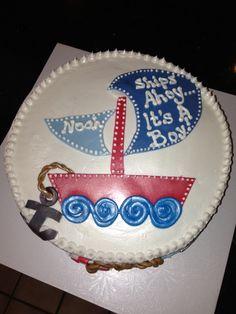 Nautical Baby Shower boy cake