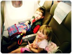Don't forget to take pictures of the kids on the plane. For them, the 10 hour flight to Walt Disney World is when the magic starts ❤